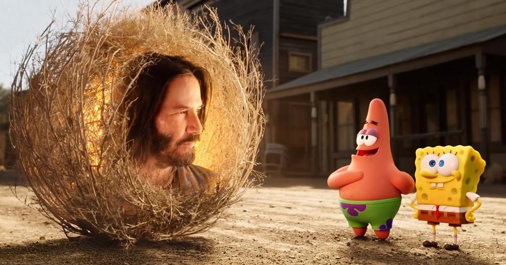 В трейлере нового мультфильма про Губку Боба появился Киану Ривз. В роли перекати-поля!