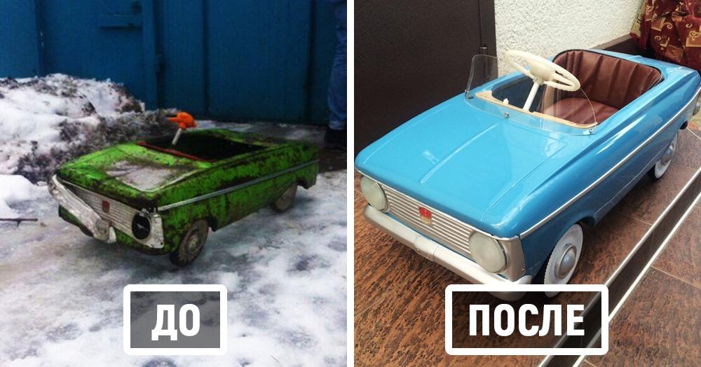 Мужчина из Нальчика ремонтирует детские машины времён СССР и возвращает их к жизни