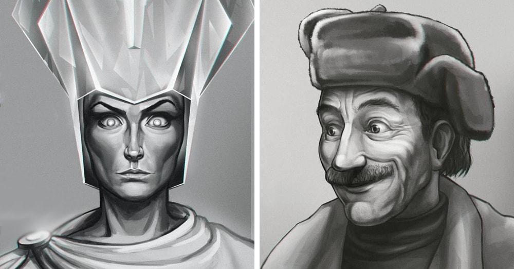 Художник из Томска нарисовал героев советских мультфильмов, показав, как они выглядят в его голове