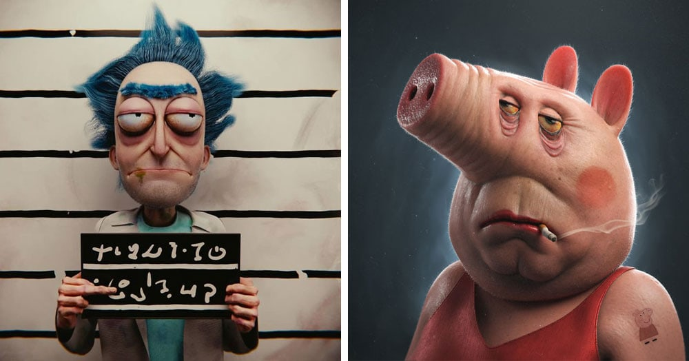 Художник из Бразилии рисует жутких мультяшек, которые могли бы стать героями фильмов ужасов