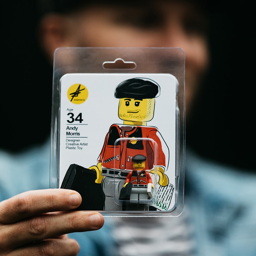 The talented artist came up with the figure's packaging all by himself.