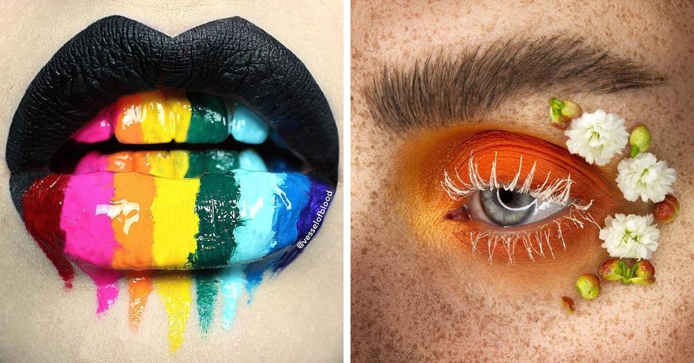 25 примеров креативного макияжа, фантазия исполнителей которого не имеет границ