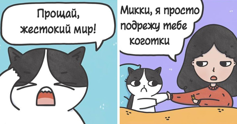 15 комиксов о том, что было бы, если бы люди и коты говорили на одном языке
