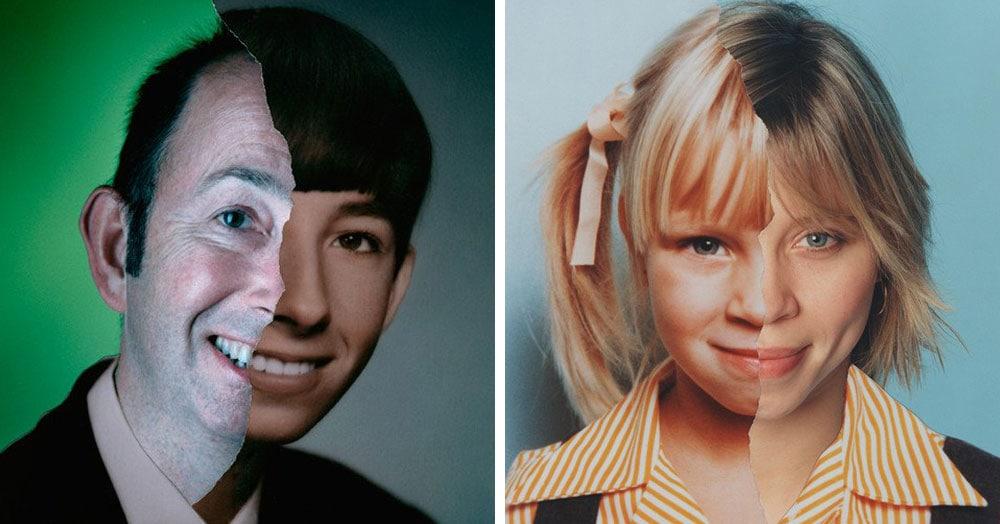 Фотограф объединил детские и взрослые снимки одних и тех же людей, показав, как меняются лица с возрастом