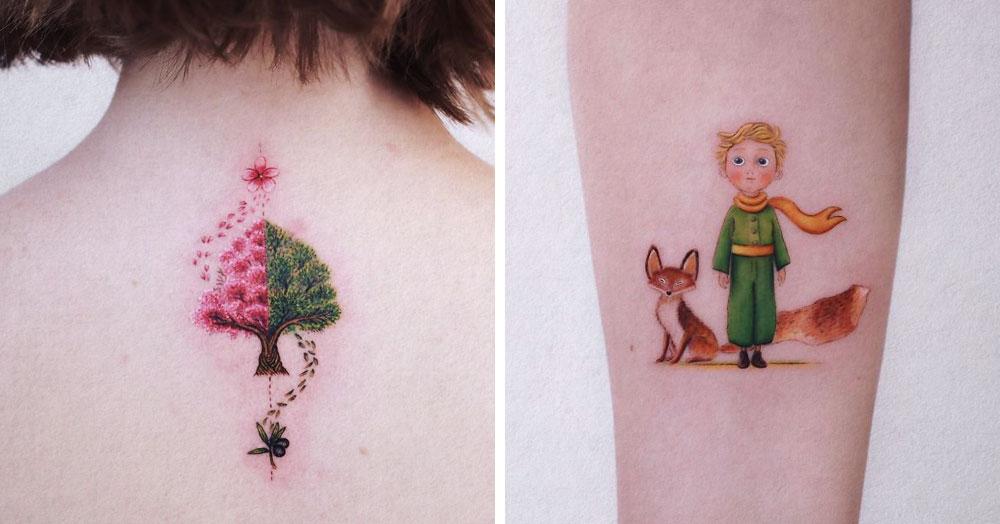 Татуировщик из Стамбула набивает на коже маленькие сказочные рисунки, запечатлевая кусочки детства