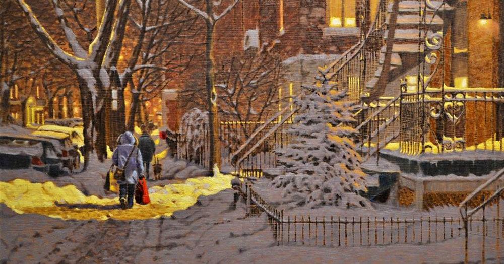 Художник из Канады рисует атмосферные картины, которые помогут окунуться в настоящую морозную зиму