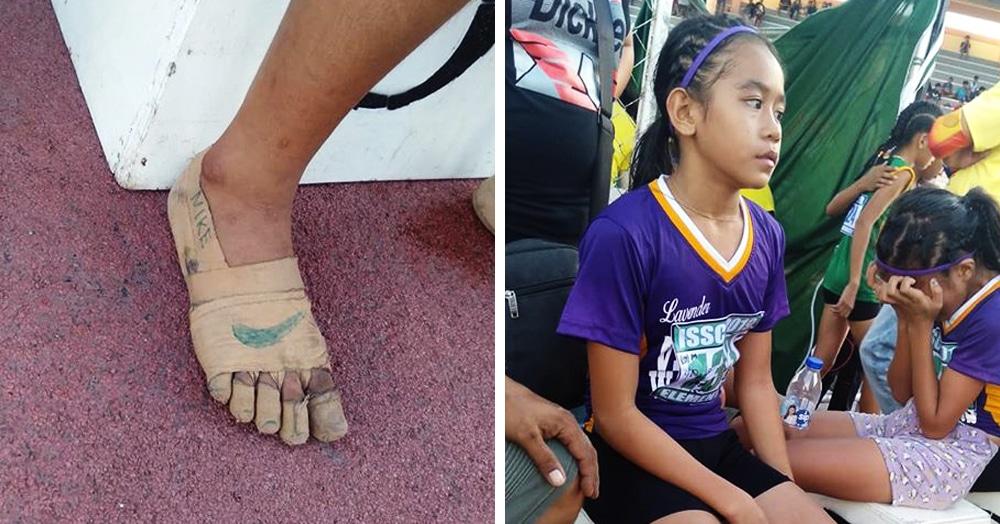 У филлипинки не было кроссовок, но она всё равно выиграла три забега. Ведь обувь она сделала сама