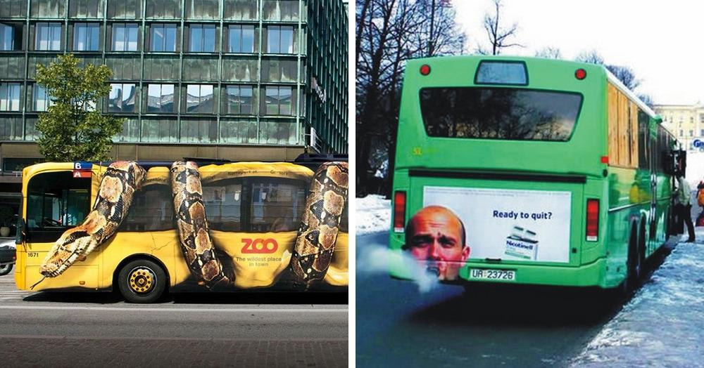 17 примеров рекламы на автобусах, которая превращает общественный транспорт в крутость на колёсах