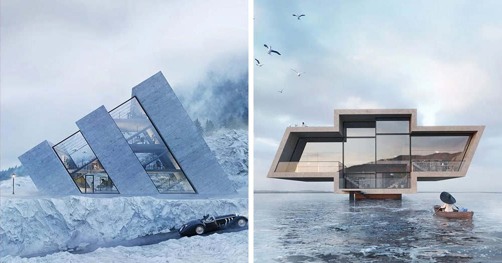 Польский архитектор создала серию домов, вдохновением для которых стали знаменитые логотипы