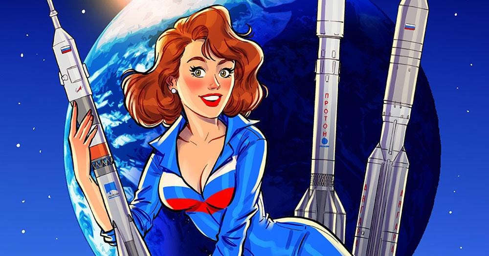 Художник нарисовал для Главкосмоса календарь 2020 года в пин-ап стиле, спрятав там шутки и пасхалки