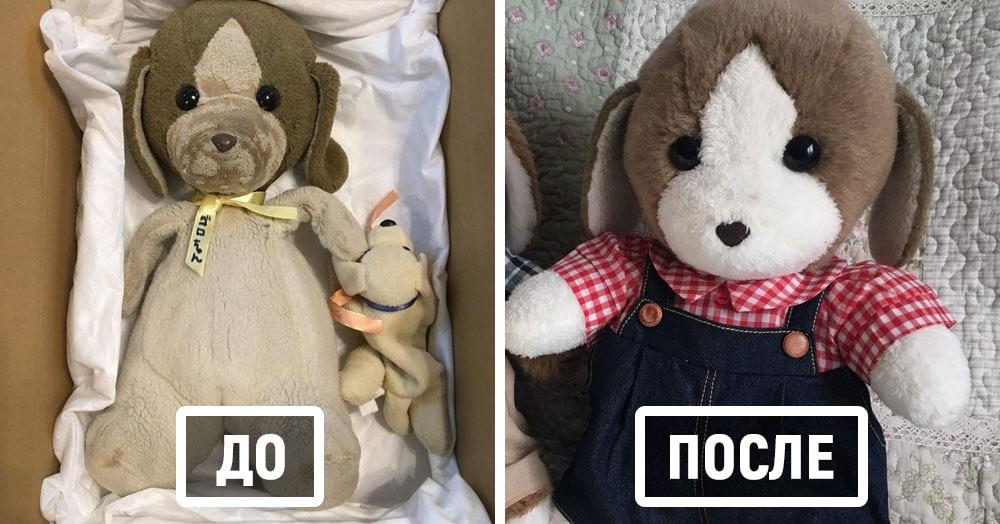 В Японии старые плюшевые игрушки отправляются в «больницу», и после лечения их не узнать