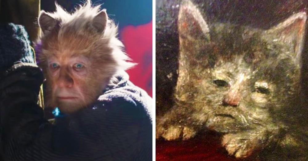 В Твиттере сравнили котов со средневековых картин и персонажей фильма «Кошки». У них много общего