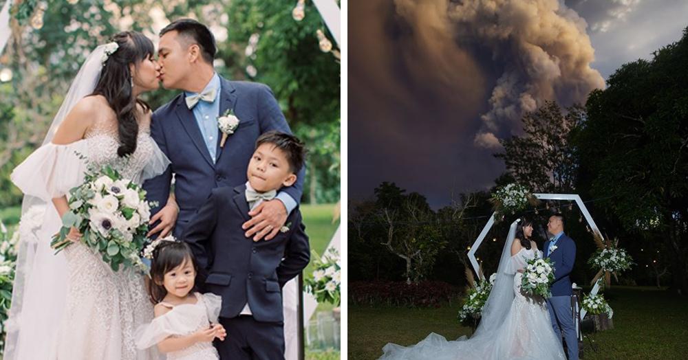 Пара не остановила свадьбу, когда рядом началось извержение вулкана. И в награду за смелость получила огненные снимки!