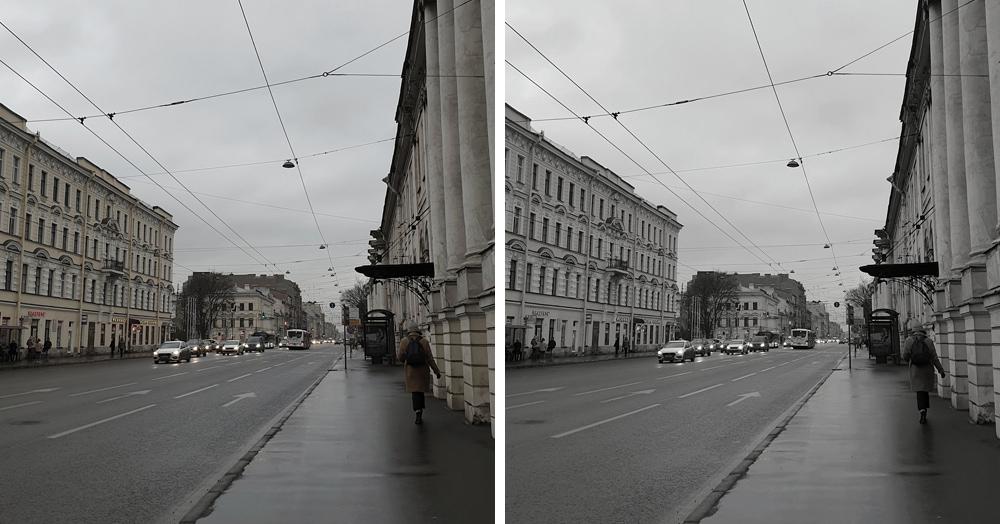 В Твиттере предложили найти разницу между цветным и чёрно-белым фото Петербурга. И понеслось!