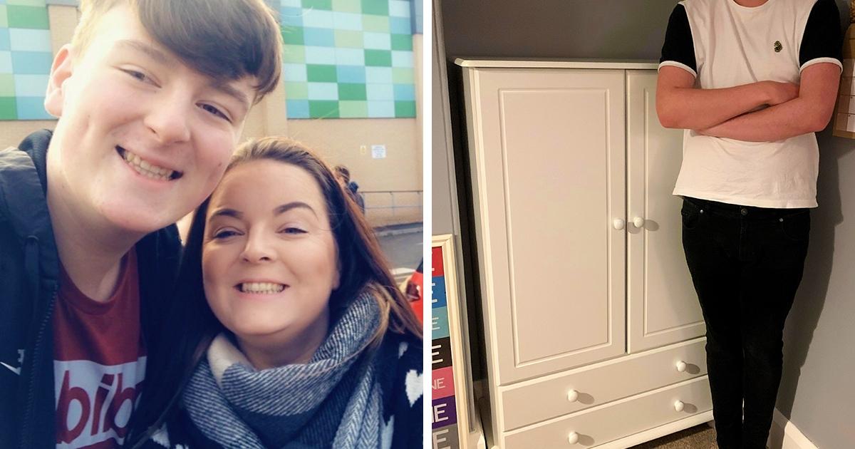 Британка заказала своему 190-сантиметровому сыну шкаф, но напутала размеры. Он оказался для дюймовочек