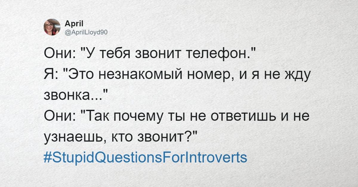 Интроверты поделились глупыми вопросами, которые им задают, и эти фразочки ставят необщительных людей в тупик