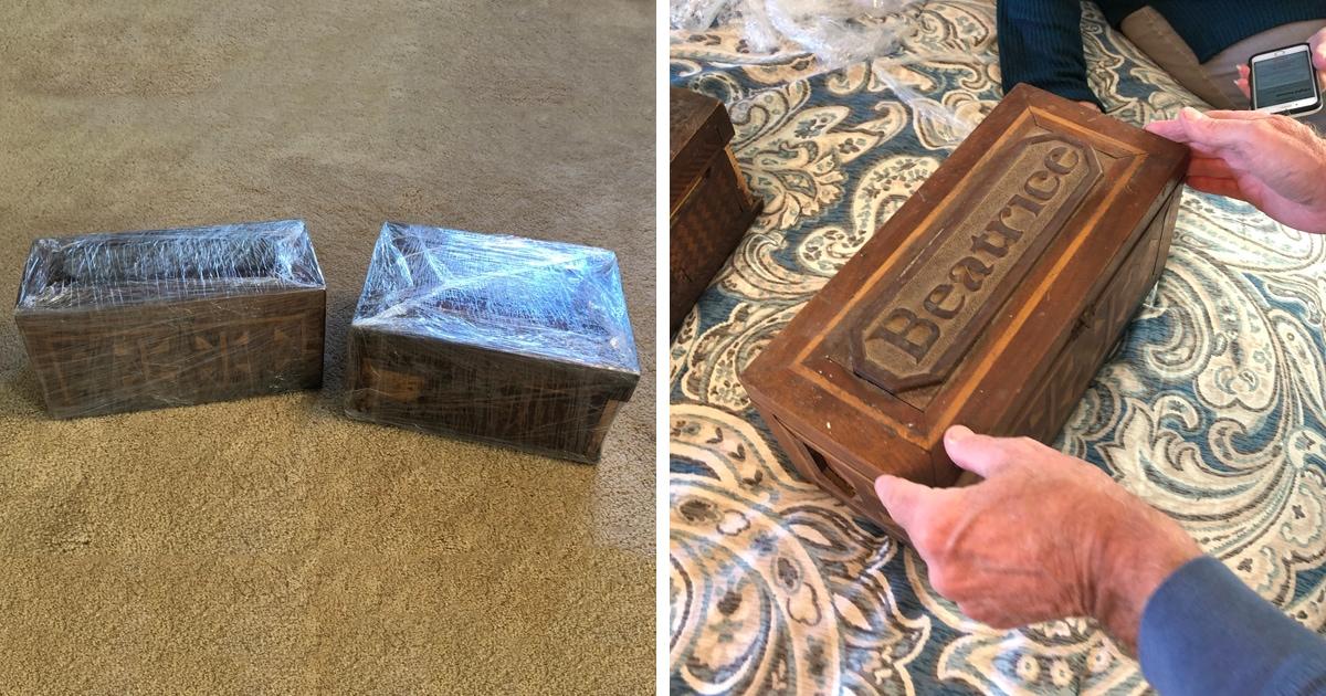 Мужчина получил шкатулки прадеда-грабителя, сидевшего в тюрьме 100 лет назад. А в них — трогательное содержимое