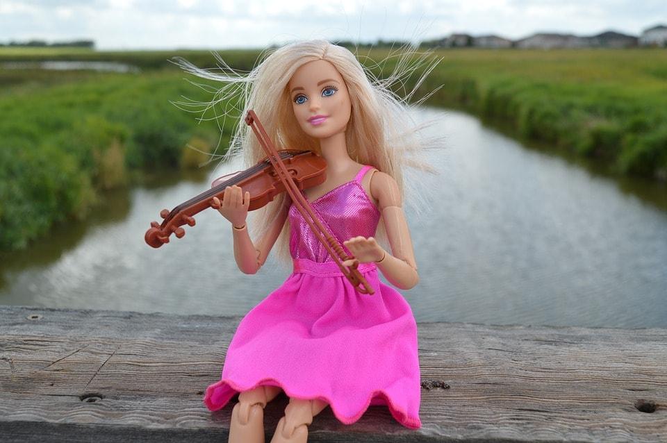 Скрипка, Игры, Барби, Кукла, Розовый, Платье, Музыка