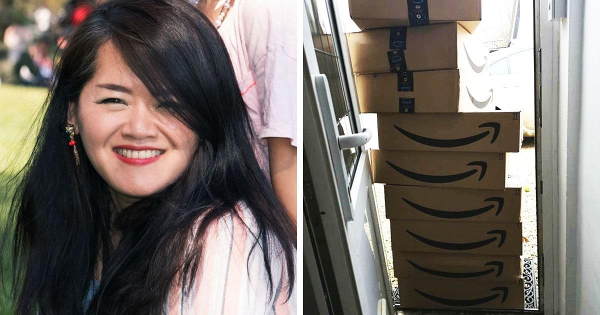 Британка заказала 9 рулонов плёнки, не ожидая, что её завалят коробками. И это количество упаковки беспощадно