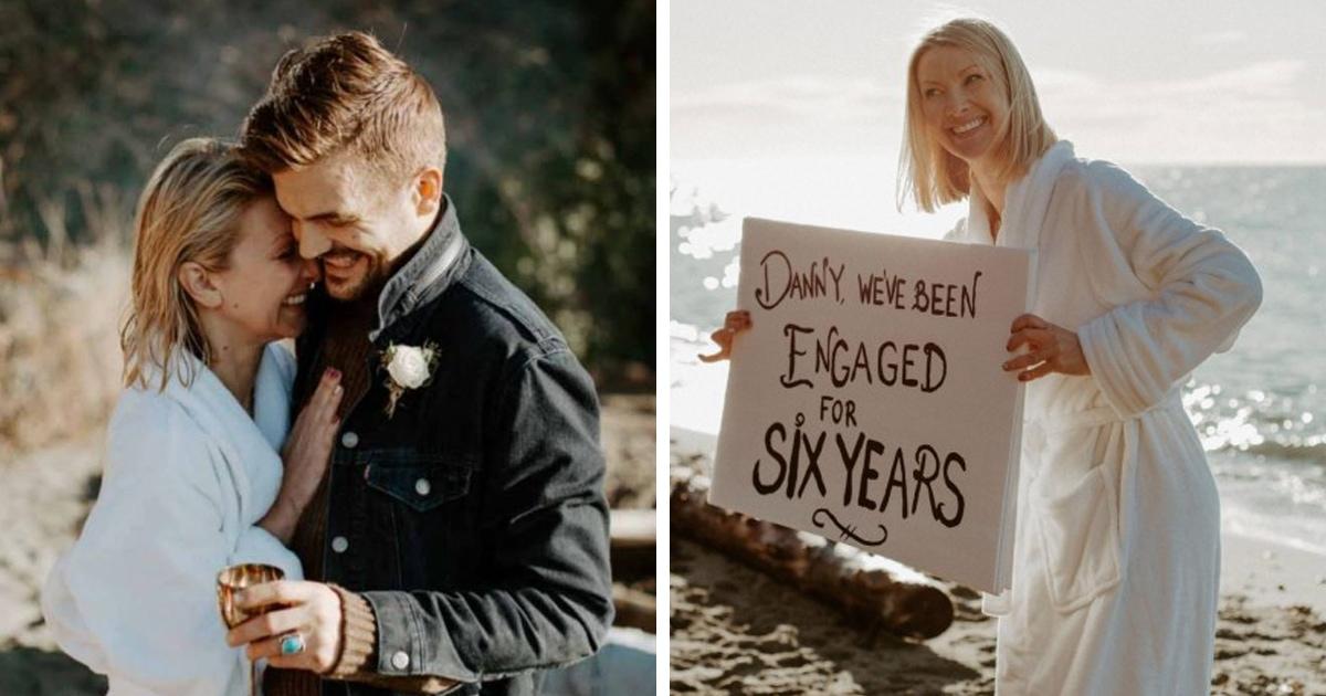Пара откладывала свадьбу 6 лет, и невеста устала ждать. Она взяла всё в свои руки и устроила сюрприз