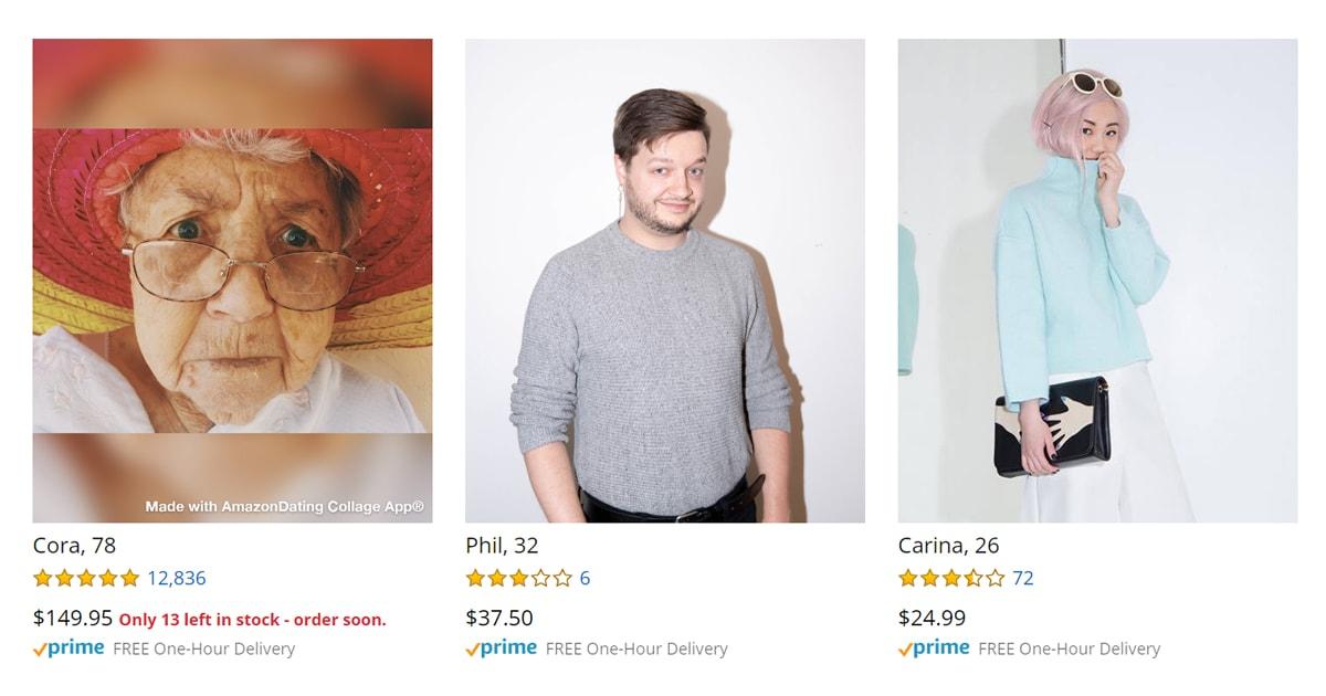 Художники создали сайт-пародию на Amazon, где можно заказать себе пару. Отзывы, характеристики — тут есть всё!