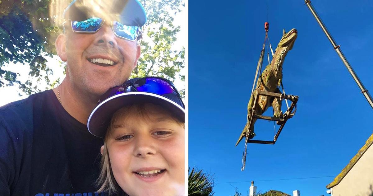 Мальчик попросил у папы игрушечного динозавра, тот заказал, но ошибся с размером. Всего на каких-то 3 метра!