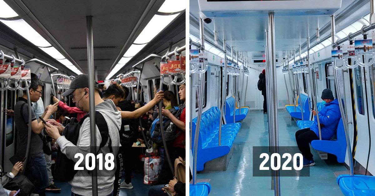 Как опустели общественные места Китая из-за вспышки коронавируса: фотографии до и после