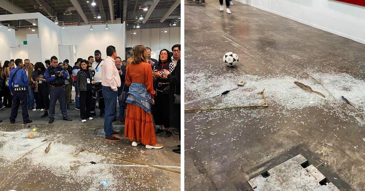 Женщина разбила экспонат за $20000 на современной выставке. В сети её поддержали, ведь до искусства ему далеко