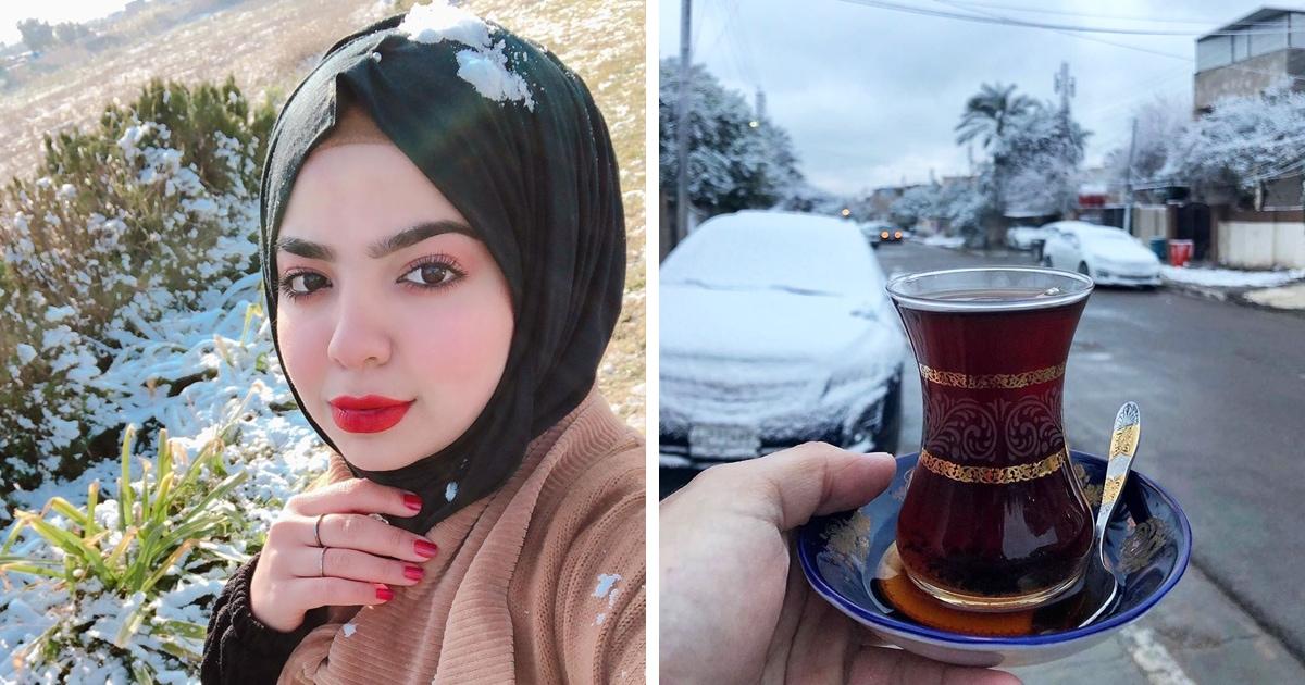 В Багдаде впервые за 12 лет выпал снег, и местные использовали его по максимуму, сделав фото со всех ракурсов!