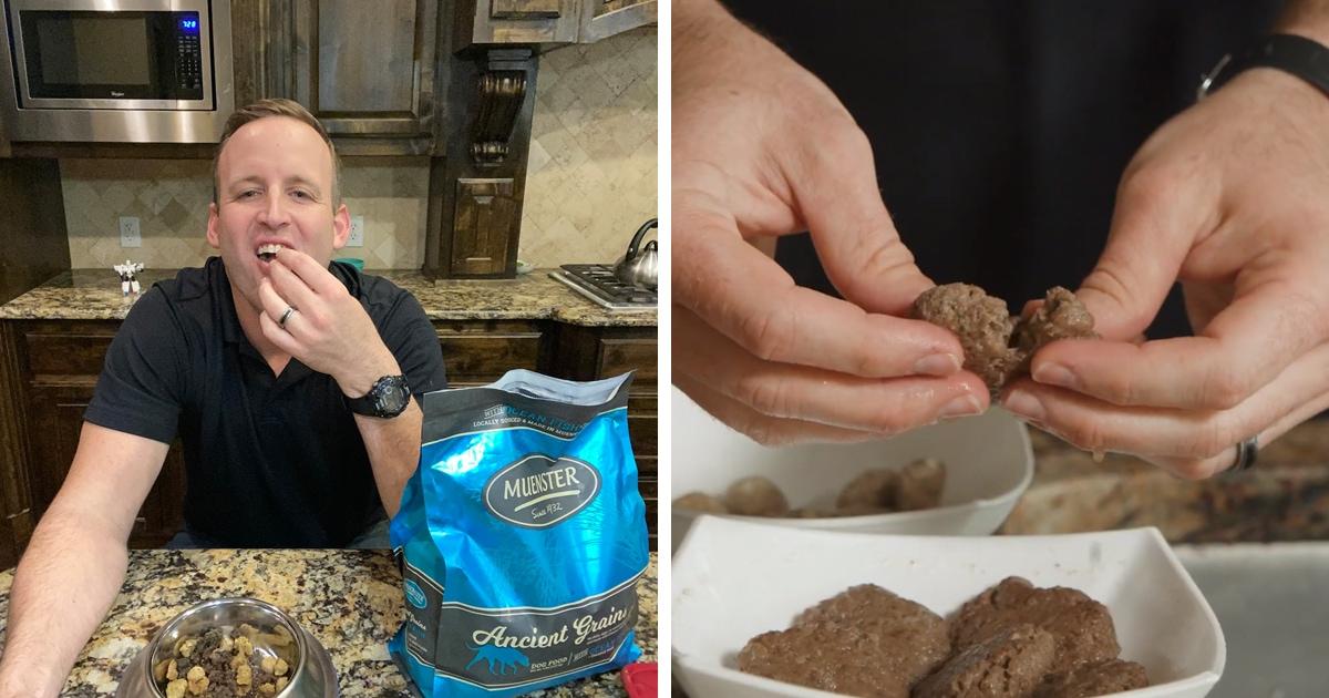 Производитель корма для собак решил доказать, что его продукт качественный. Он 30 дней питался только им