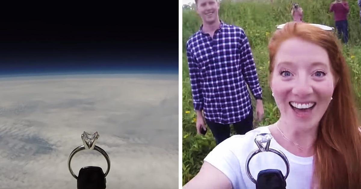Парень сделал своей девушке неземное предложение, отправив кольцо в ближний космос и вернув его обратно