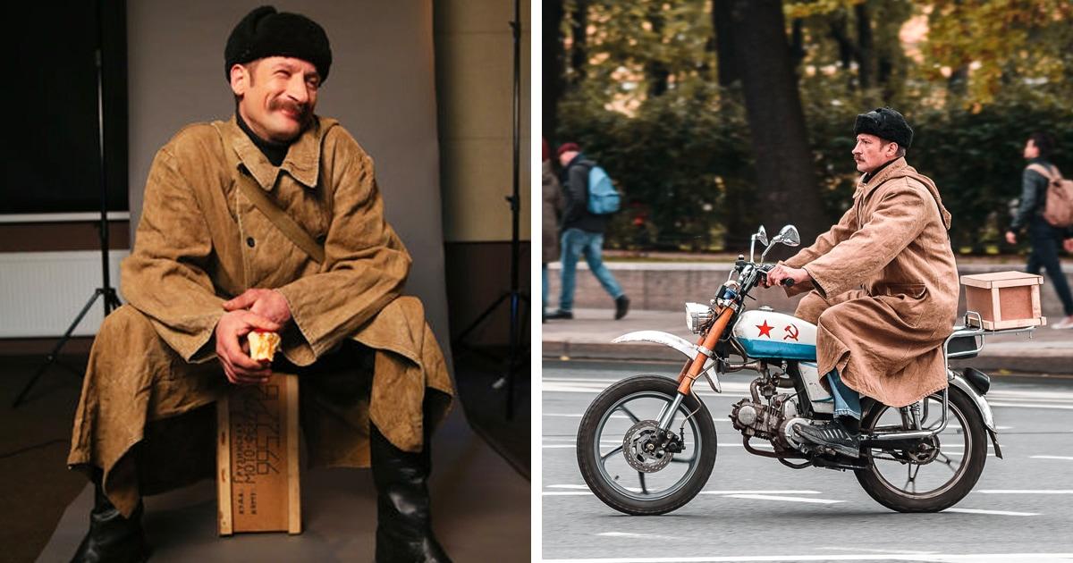 Петербуржец так похож на Печкина, что выиграл конкурс его двойников — и его пригласили на «Союзмультфильм»