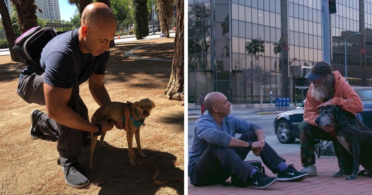 Ветеринар ищет на улицах бездомных, у которых есть питомцы. Он помогает им — и делает это совершенно бесплатно
