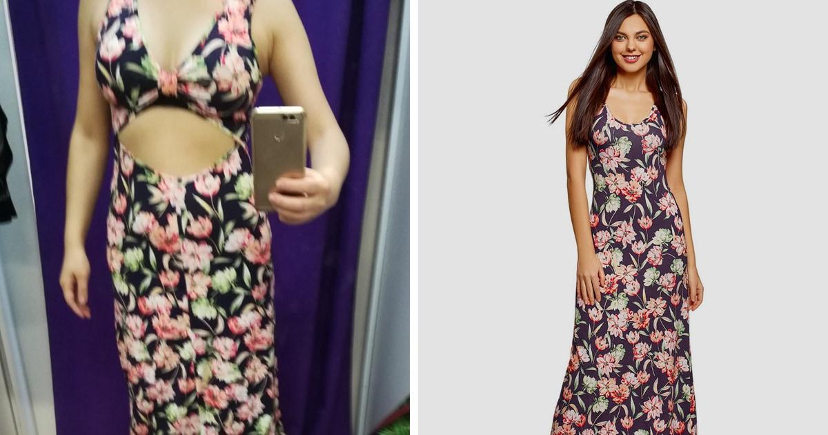 Женщина решила, что ей прислали не то платье, и это фейл. Достаточно посмотреть, как оно выглядит со спины