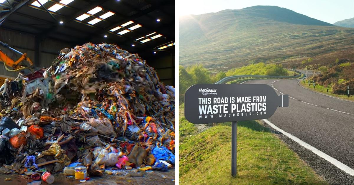 Компания из Шотландии делает дорожное покрытие из пластиковых отходов. И оно в 3 раза долговечнее асфальта