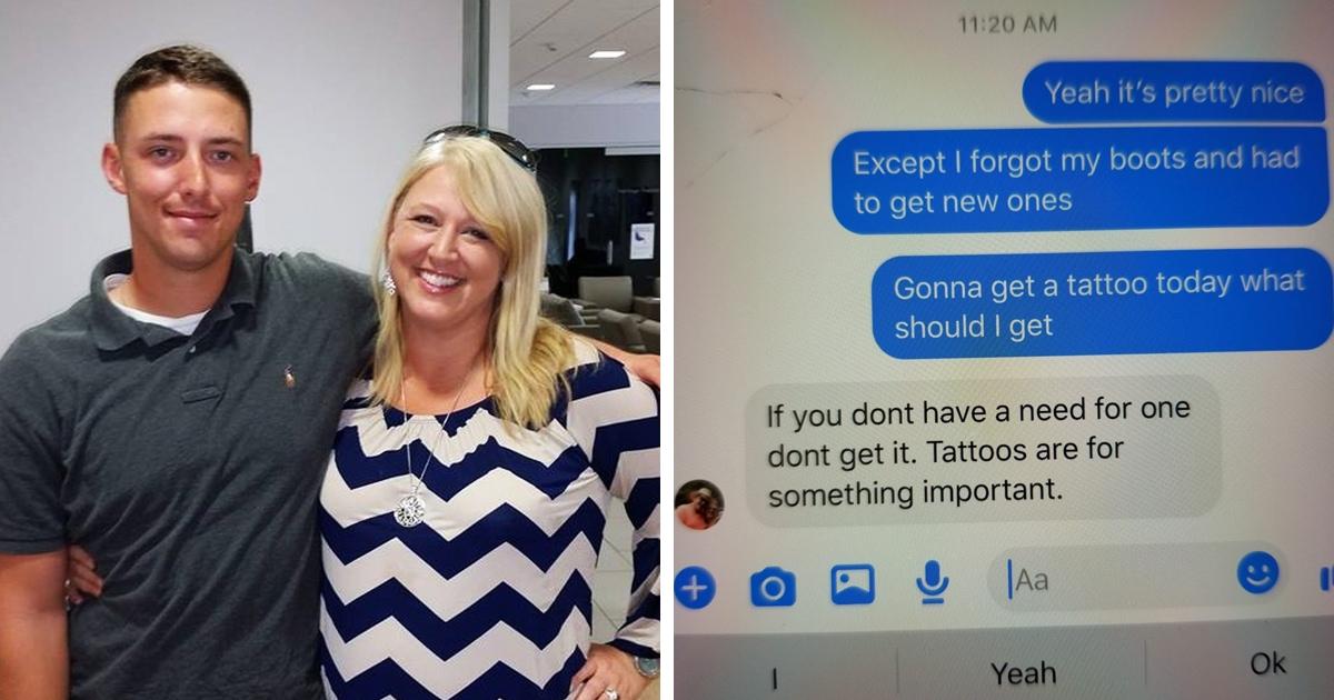 Мама дала сыну совет не делать тату и сильно об этом пожалела — ведь её слова подали ему идею для татуировки