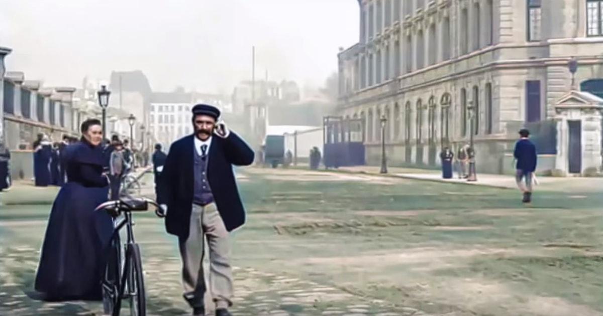 Москвич восстановил старинное видео, снятое в 1890-х годах в Париже. Он улучшил качество до 4k и раскрасил его