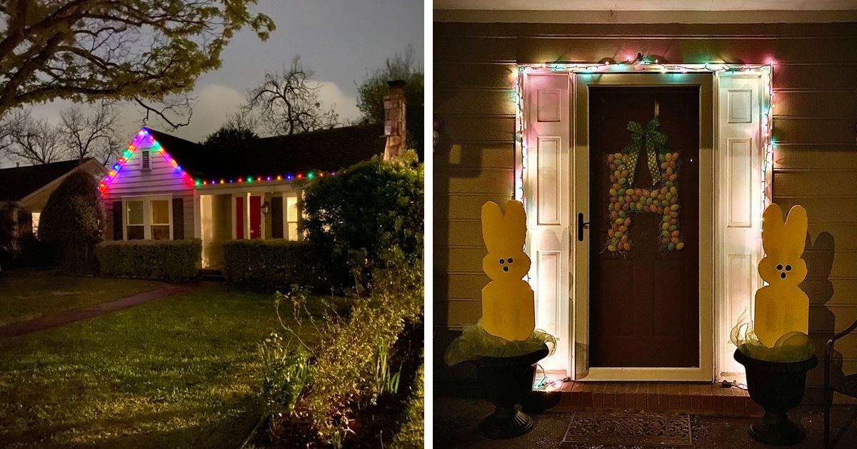 Журналист предложил украсить дома, чтобы добавить радости в дни карантина. И по всей Америке зажглись огни