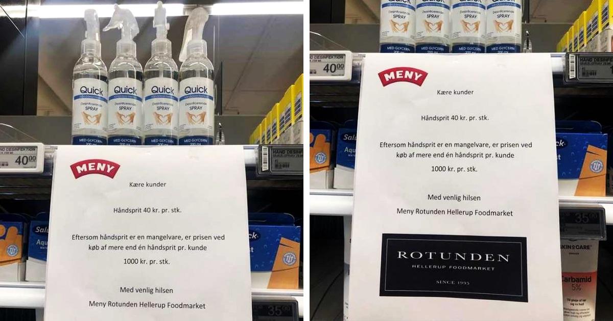 Датский магазин придумал, как бороться с теми, кто скупает весь санитайзер. Их решили перехитрить смекалочкой