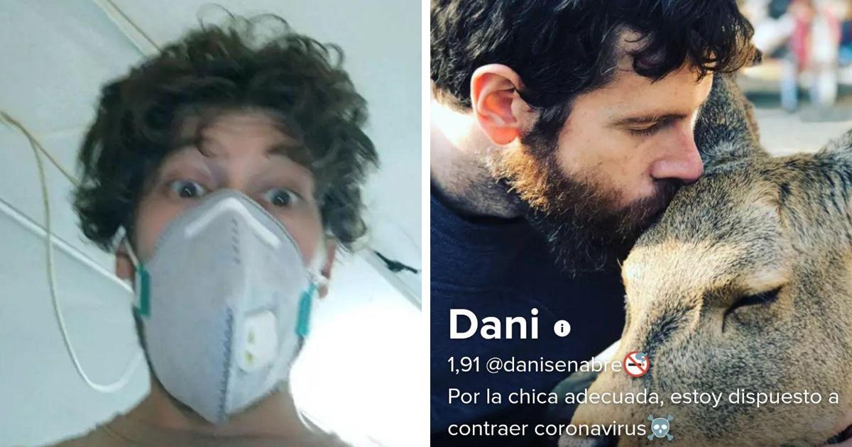 Испанцы пытаются найти свою любовь на карантине и редактируют профили в Тиндере. Но получается скорее комично