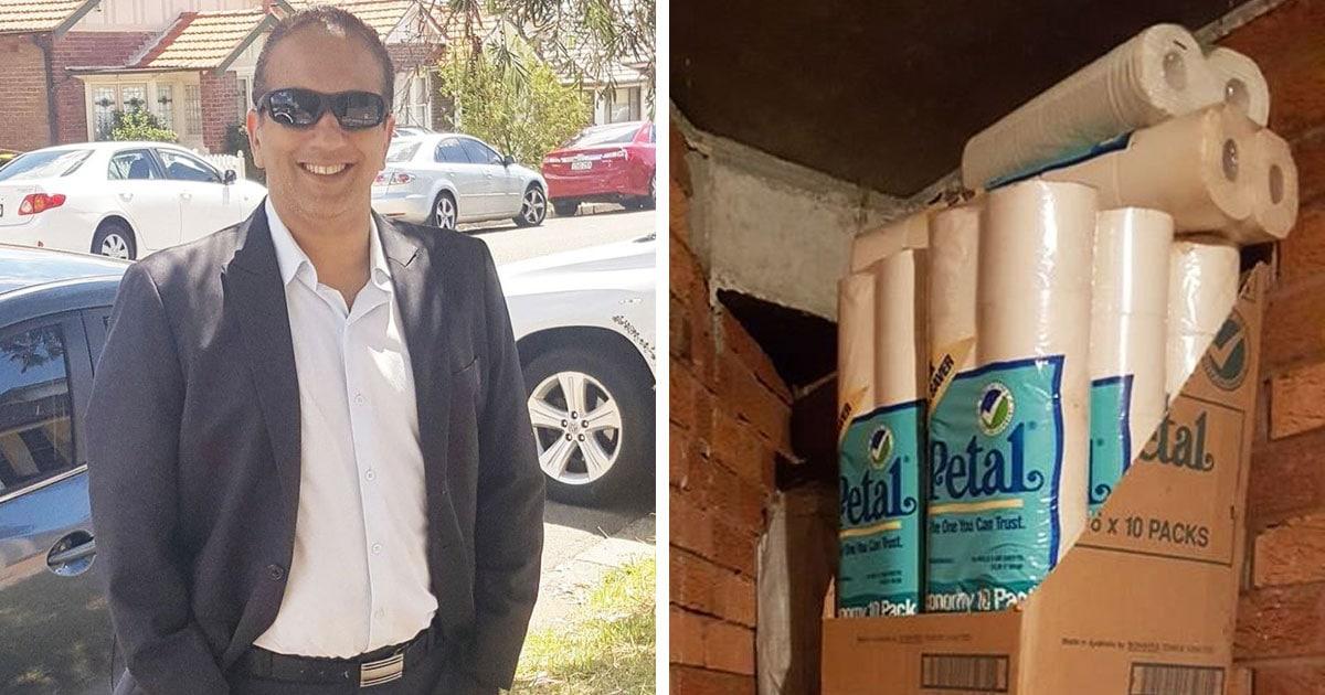 Мужчина случайно нашёл дома пару сотен рулонов туалетной бумаги и стал Робином Гудом современности, раздавая её нуждающимся