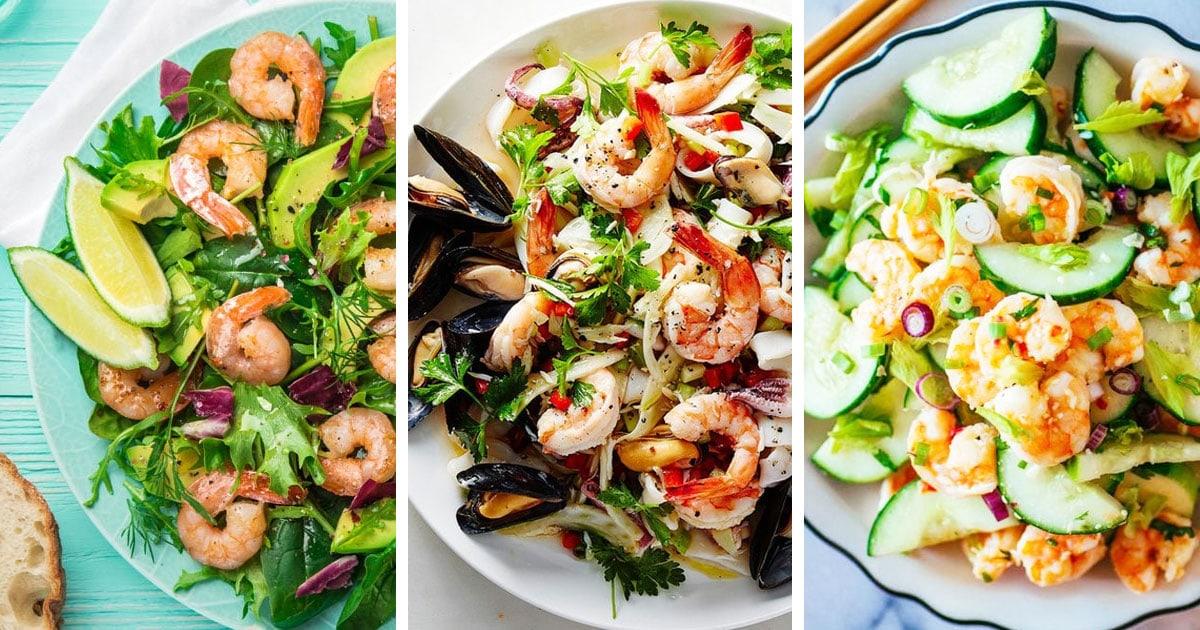10 рецептов самых вкусных салатов с креветками