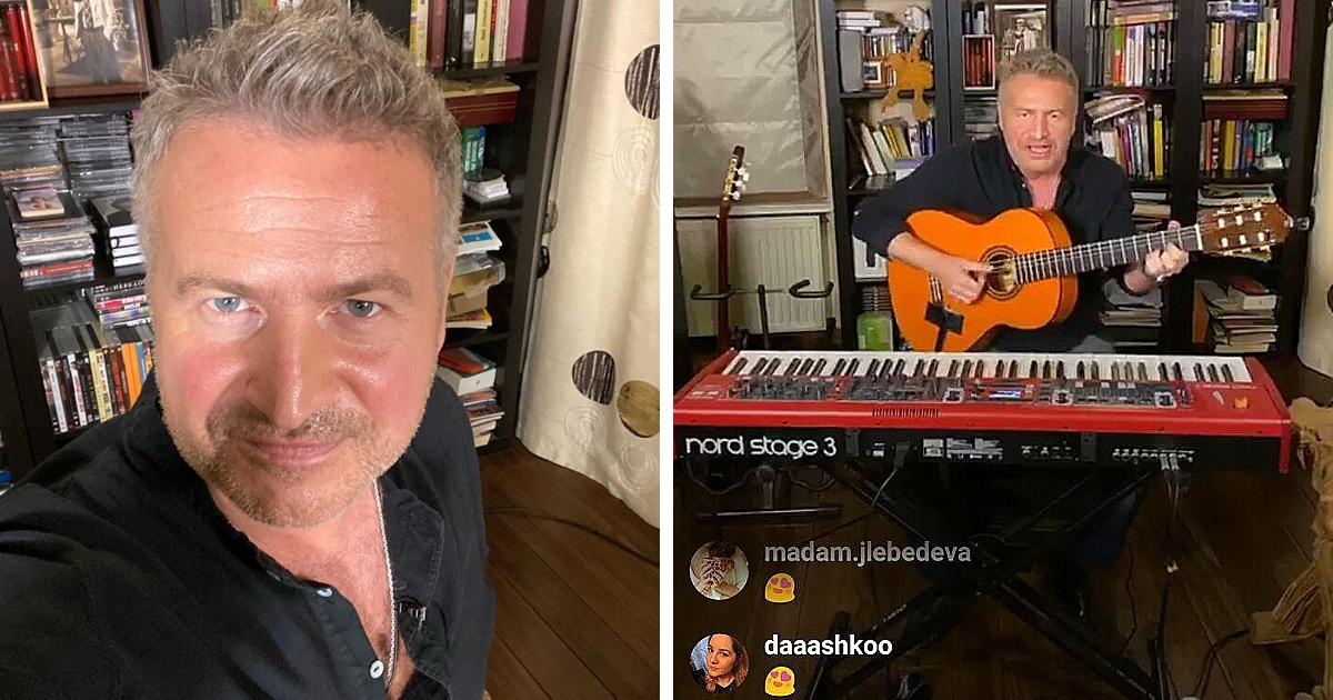 «Концерт в тапочках»: Леонид Агутин выступал в прямом эфире Инстаграма и по просмотрам обошёл Робби Уильямса