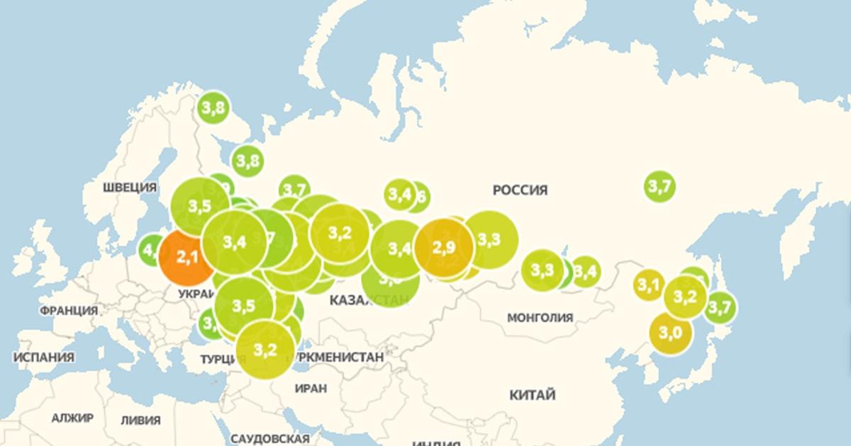 «Индекс самоизоляции»: карта Яндекса, которая поможет отследить, как жители вашего города соблюдают карантин