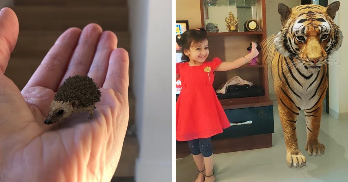 Пользователи Твиттера обнаружили, что в Google можно перенести 3D-зверей в реальность. И дети в восторге!