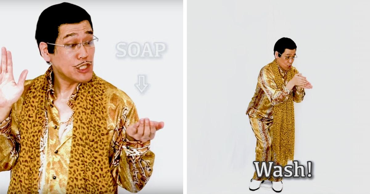 Автор клипа «Pen-Pineapple-Apple-Pen» представил новую коронавирусную версию песни. Теперь она про мыло и руки
