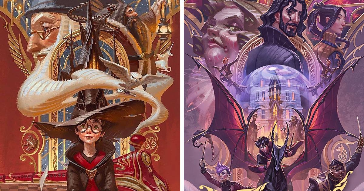 В Таиланде выпустили юбилейные обложки книг о Гарри Поттере, и детали каждой можно разглядывать очень долго
