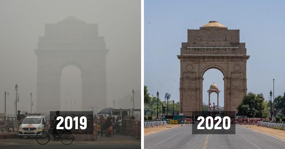 Индия была одной из стран с самым загрязнённым воздухом в мире. Но карантин не оставил это без изменений