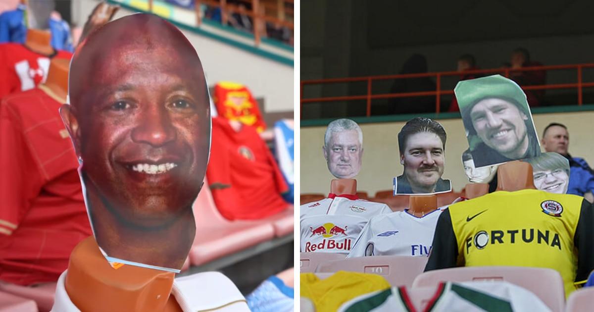 «Чёрное зеркало» по-белорусски: в Бресте на футбольном матче зрителей заменили манекенами с их фотографиями