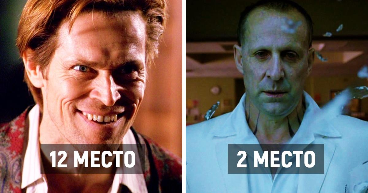 В сети вычислили самых злодейских актёров Голливуда, посчитав, кто из них сыграл больше отрицательных ролей